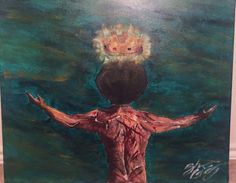 The background is a mix of turquoise and gold to provide a sense of surrealism. The universe bestows its golden crown onto the head of this black man who has taken multiple shots throughout his life time. The scarlet lashes express his history of pain,l and escape. His bronze skin is made of gold and different shades of brown. Symbolizing there's no race in blackness. Black is black and everyone is a king.Style: ContemporarySubject: Black Kings Color Scheme: Multicolor ...