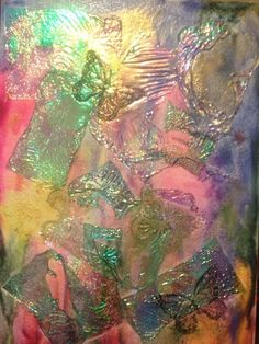 Melted Crayon Canvas Panel. $35.00, via Etsy.