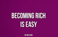 Becoming rich is easy. #moneyaffirmations #lawofattraction