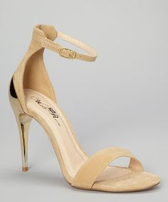 Take a look at this Beige Tamara Sandal by Wild Rose on #zulily today!