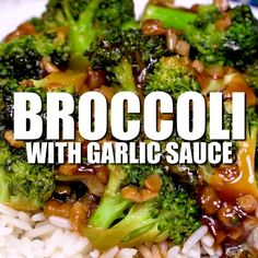 Broccoli with Garlic Sauce Chinese broccoli with garlic sauce - this is AMAZING and tastes like takeout!Chinese broccoli with garlic sauce - this is AMAZING and tastes like takeout! Authentic Chinese Recipes, Chinese Chicken Recipes, Easy Chinese Recipes, Asian Recipes, Chinese Broccoli Recipe, Chinese Sauce Recipe, Chinese Garlic Sauce, Chinese Desserts, Japanese Recipes