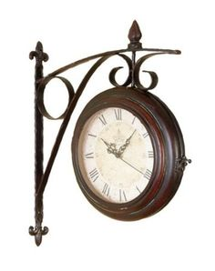 Amazon.com: Roman Numeral Double Sided Wall Clock Train Station: Home & Kitchen $34.38