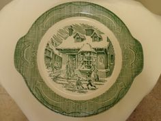 Currier and Ives Old Curiosity Shop Cake Plate by ThePearlSwan, $10.00