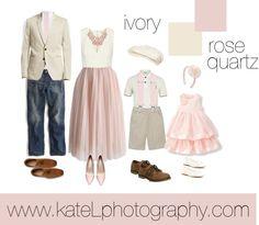 Rose Quartz + Ivory // Family Outfit