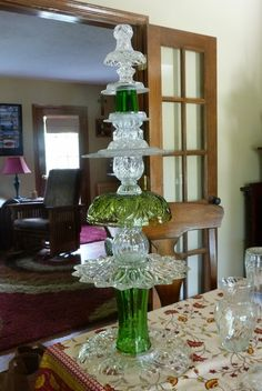 glass totems for the garden - Google Search