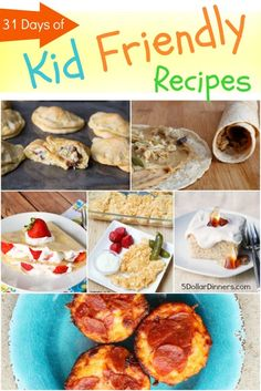 31 Days of Kid Friendly Recipes
