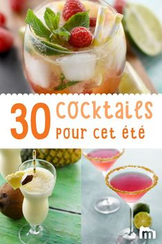 Discover all the best cocktails to drink as an aperitif and refresh yourself this summer! Bourbon Cocktails, Beste Cocktails, Summer Cocktails, Sangria, Tequila, Hard Drinks, Cocktail Party Food, Birthday Cocktail, Best Cocktail Recipes