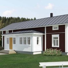 Closed In Porch, Red Cottage, Dream House Exterior, Scandinavian Home, Building Materials, Log Homes, My Dream Home, Shed, Villa