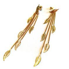 #Bijou Femme :: #Boucles d' #oreilles #Plumes - Disponibles en #Or Blanc ou en Or Jaune.