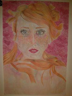 """""""Esta pintura es definitivamente la representación de haber logrado salir de un estado de depresión durante casi un año. Luego de mucho tiempo, me decido a pintar una mujer con los ojos abiertos y muchos colores, una mujer que transmita algo positivo para mi (...)"""" mas en mi tumblr >> http://pinceldeletras.tumblr.com/post/114056751225/esta-pintura-es-definitivamente-la-representacion  Por Maria Fernanda Rovaina"""