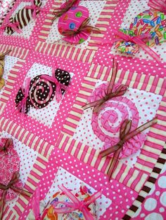Sweet Shoppe Quilt designed by Wendy Sheppard (Ivory Spring) and published in Simply Quilts & Sewing by Quilt Magazine (Winter 2012).