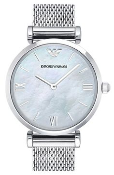 83a3dbb869b Emporio Armani Mesh Strap Watch