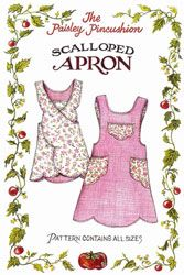 Scalloped Apron Pattern by The Paisley Pincushion - cute apron patterns to purchase.