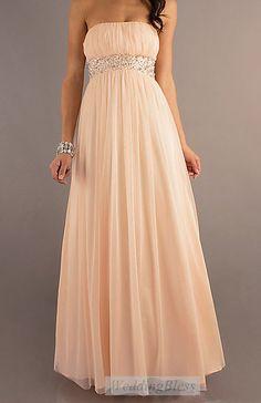 Peach Long Dress, A-line via Etsy.                     Or in navy blue