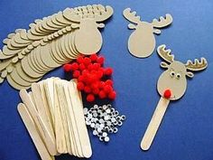 Rudolph Bookmarks - Makes 30, Christmas Crafts by Theme, Reindeer & Rudolph Crafts, kids crafts, childrens crafts, children's craft supplies, crafts for kids
