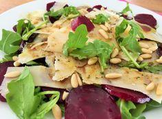 Aus dem eigenen Garten: Randencarpaccio mit Rucola und Parmesan