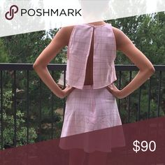 SOLD Lulu bundle @sarah_harwell Crop and skirt in pink grid pattern bundle for @sarah_harwell Other