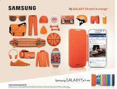 Samsung s4 mini moodboard - affiche publicitaire