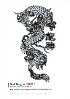 I like the idea of a Chinese dragon, maybe in black and white on the back or shoulders