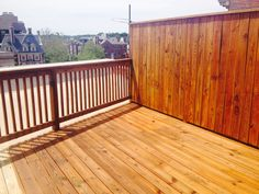 Deck and fence staining, natural oak Sikkens stain  Yawata Company