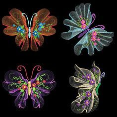 FLUTTERBY LUV #2 Full Pack- 30 Machine Embroidery Designs