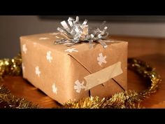 ▶ How-Tuesday: Upcycled Gift Wrap - YouTube