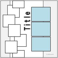 Scrapbook layout                                                                                                                                                     More #scrapbooklayouts