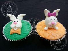 Cupcakes decorados de Páscoa.