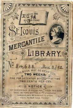 Library bookplate