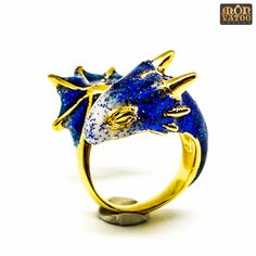 Gold Sapphire Dragon Ring by MONVATOOLondon on Etsy https://www.etsy.com/listing/180755866/gold-sapphire-dragon-ring