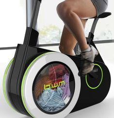 The Exercise Bike That Washes Your Laundry as You Ride