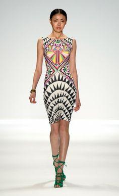 mercedes benz fashion week mara hoffman art deco inspired pinterest