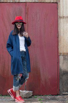 สตรีทแฟชั่น เสื้อโค้ท เดนิม oversized by WLS :: Street Fashion Outfits & Authentic Vintage [เสื้อผ้าสตรีทแฟชั่่น เดรสวินเทจพรีเมี่ยม]