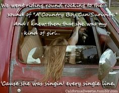words to country boy can survive