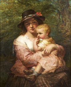 Mother and child by James John Hill