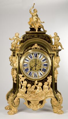 Beautiful antique gilt figural clock.                                                                                                                                                                                 More