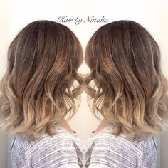 Blonde Balayage Sombre on short hair. Balayage for fall. Balayage in Denver at Hair by Natalia. #Balayage #Sombre #fallhair #balayageDenver #hair #hairlove #haircolor #haircolorsalon...