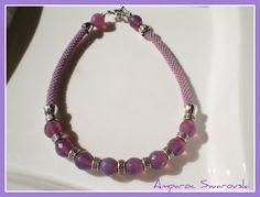 Artesanías Amparoc Swarovski: Gargantilla a Crochet 6