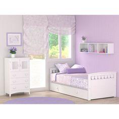 Cama nido infantil Corazones, una manera ideal para ahorrar espacio en la habitación infantil #bainba #camasnido #dormitoriosparaniñas