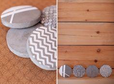 concrete diy projects | DIY Concrete Coasters