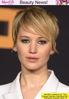 Jennifer Lawrence's Chic, Short Hair At 'Catching Fire' Berlin Premiere