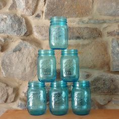 Mason Jar Drinking Glasses with lids, glasses with lids, jars with lids, mason jars bulk via Etsy