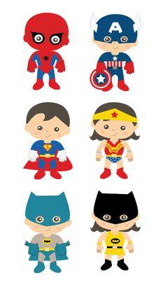 superheroes niños