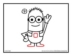 how to draw a minion step 9