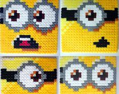 hama beads minions | Despicable Me Minion Coaster Set x 4 ...
