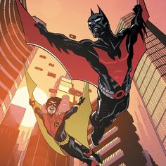 Robin better get trained quickly, because he and Batman are about to face one of the worst villains in Gotham's history. What'd you think of BATMAN BEYOND Issue Im Batman, Batman Art, Batman Robin, Comic Books Art, Comic Art, Batman Painting, Batman Universe, Dc Universe, Batman Poster