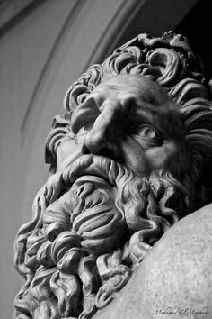 Photograph Untitled by Mohamed ElMoghany on Greek And Roman Mythology, Greek Gods, Plaster Sculpture, Lion Sculpture, Marble Bust, Statue Tattoo, Greek Statues, Greek Art, 3d Prints