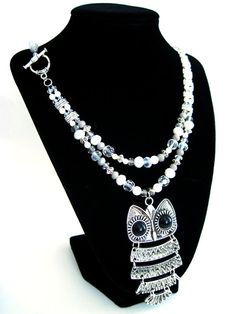 Harry Potter Collection: Snowy Owl Hedwig Necklace Set by HuntJewelz