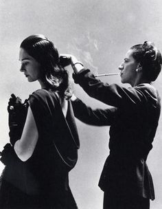 Diana Vreeland photographed by Richard Avedon during a photo shoot for Harper's Bazaar, 1946.
