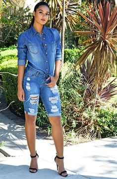 Parkers Jeans   Editorial Photoshoot 2015  #2015 #2016 #Photoshoot #denim #jeans #model #editorial #fashion #shorts #summer #festival #denimshirt #bermuda